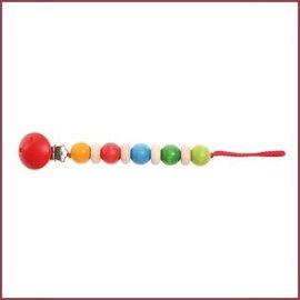 Grimm's Houten speenketting - regenboogkleuren