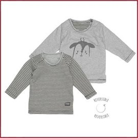 Snooze Baby T-shirt LS deer storm grey reversible