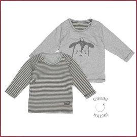 Snooze Baby T-shirt LS deer storm grey reversible