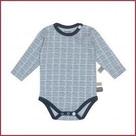 Snooze Baby Romper LS hand stripe indigo blue