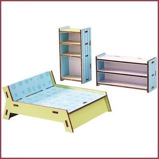 Haba Little Friends slaapkamer voor poppenhuis