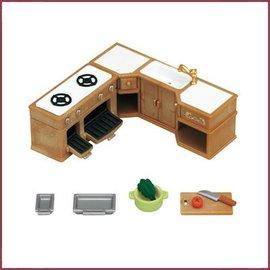 Sylvanian Families Kitchen Stove, Sink & Counter Set