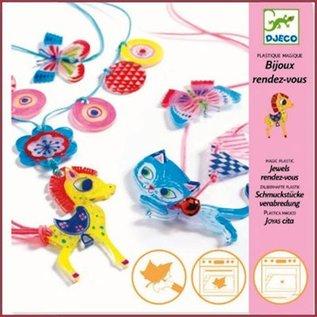 Djeco Magisch plastic, Sieraden met poesje en pony
