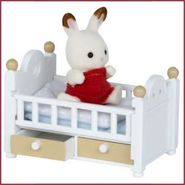 Sylvanian Families Chocolate Rabbit Baby Bed