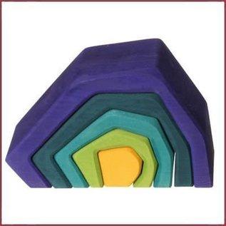 Grimm's Houten stapelblokken Aarde - groot