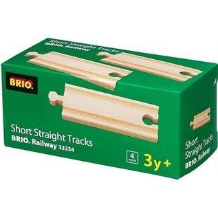 Brio Rail-uitbreidingsset Halve rechte rails