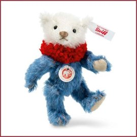 Steiff Mini Teddybeer Dolly, 10cm blauw/wit