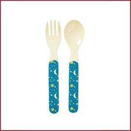 Rice Rice Kids Melamine Spoon and Fork