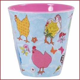 Rice Rice Cup Two Tone Hen Print