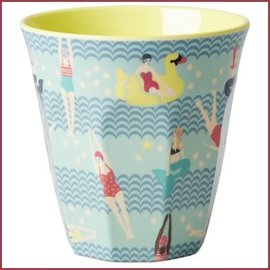 Rice Rice Cup Two Tone Swimster Print - Yellow and Blue