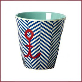 Rice Rice Cup Two Tone Sailor Stripe&Anchor Print