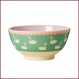 Rice Rice Bowl Two Tone Swan print