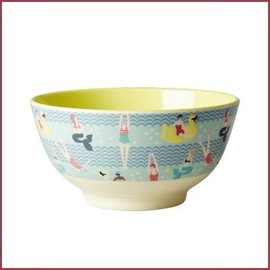 Rice Rice Bowl Two Tone Swimster Yellow & BLue print