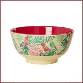 Rice Rice Bowl Two Tone with Tropical Print