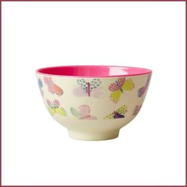 Rice Rice Small Bowl with Butterfly Print
