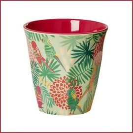 Rice Medium Cup Two Tone with Tropical Print