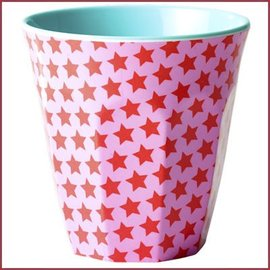 Rice Rice Medium Cup Two Tone with Girl Star Print