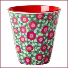 Rice Rice Medium Cup Two Tone with Peony Print