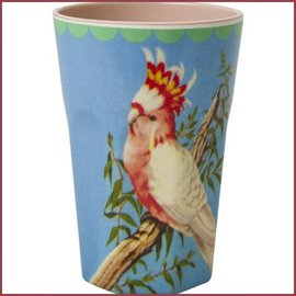 Rice Rice Cup Two Tone Tall - Vintage Cockatoo Print
