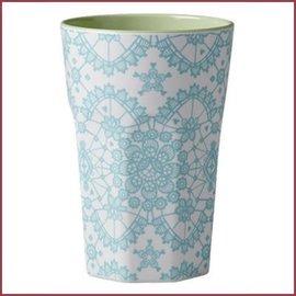 Rice Rice Cup Two Tone Tall - Mi Lace Print