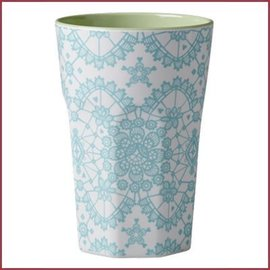 Rice Rice Two Tone Tall Cup with Mi Lace Print