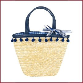 Souza for kids Tas Iona pompoms, marine blauw