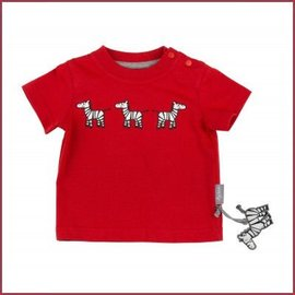 Sigikid T-Shirt rood met Zebra