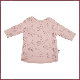 Sigikid T-Shirt lange mouw New Born, Peach Skin