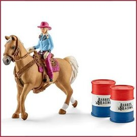 Schleich Barrel Racing met Cowgirl