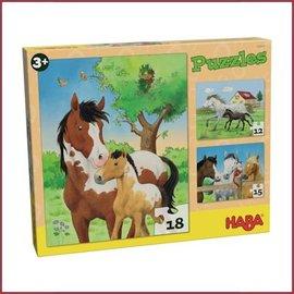 Haba Puzzel Paarden