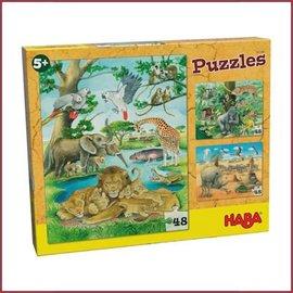 Haba puzzel Wilde Dieren in Afrika