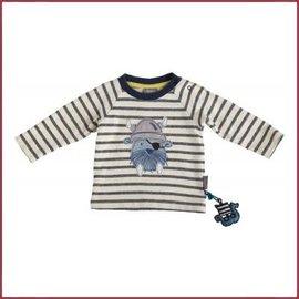 Sigikid Sweatshirt blauw/wit gestreept, walrus