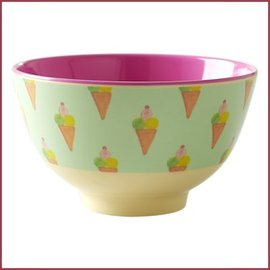 Rice Bowl Small met IJs Print - Two Tone