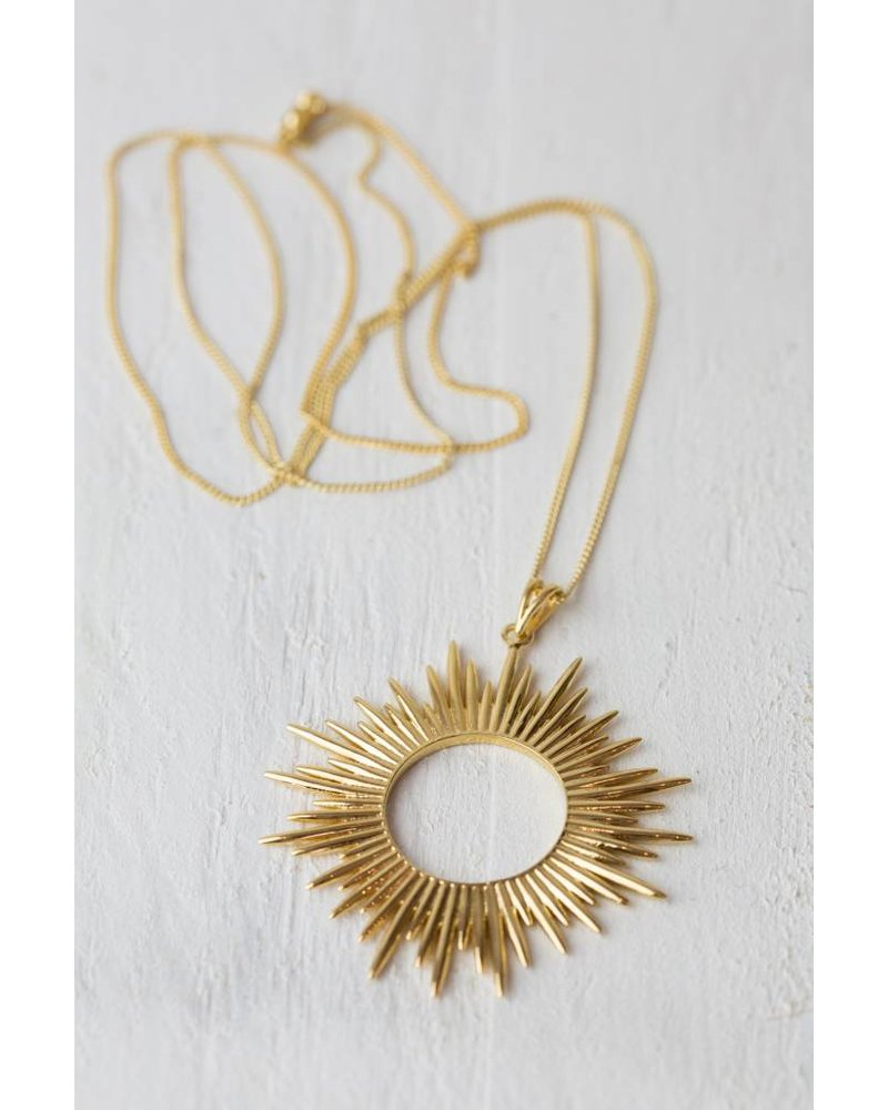 GOLD SUN RAY NECKLACE