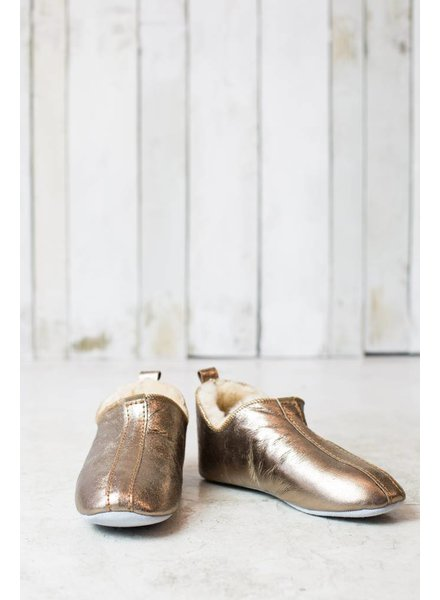 LINA GOLD SHEEPSKIN SLIPPERS