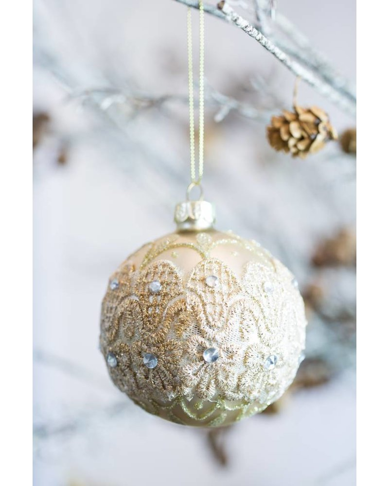 CHAMPAGNE GLASS BAUBLE