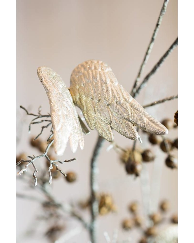 GOLD ANGEL WING DECORATION