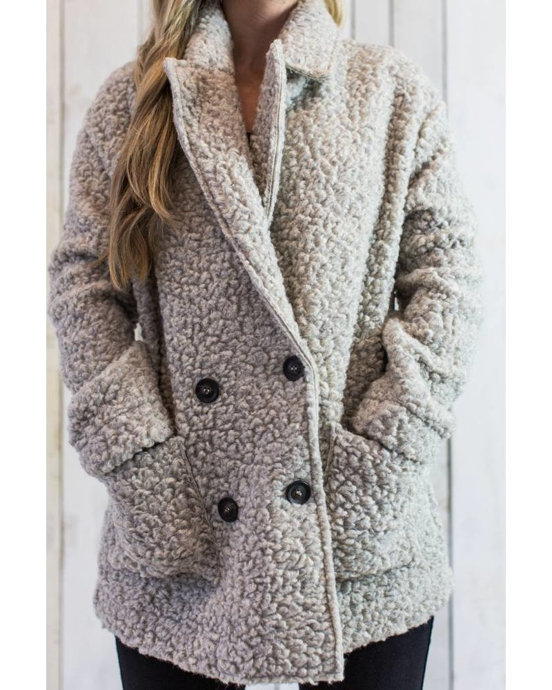TED CURLY WOOL JACKET
