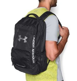 UNDERARMOUR UA Hustle Backpack II-BLK/BLK/SLV OSFA