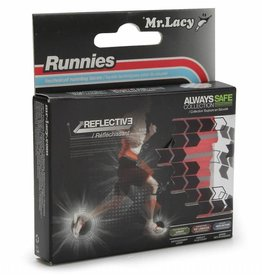 MR LACY Laces Runnies Reflective/RED/OSFA