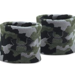 UNDERARMOUR UA Jacquard Wristbands-DTG/ATG/BLK OSFA