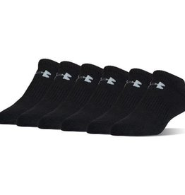 UNDERARMOUR CHARGED COTTON 2.0 NOSHOW 6PK - black