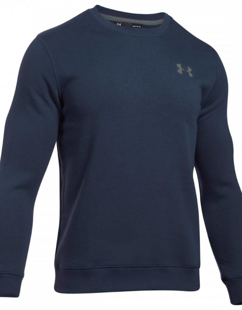 UNDERARMOUR Rival Solid Fitted Crew-NVY