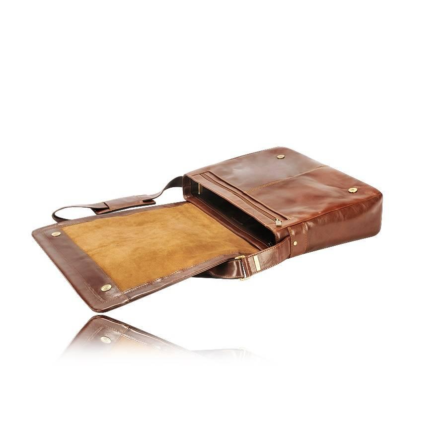 Visconti Enzo laptop messenger bag