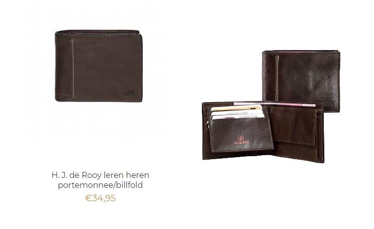 H.J. de Rooy leren heren portemonnee