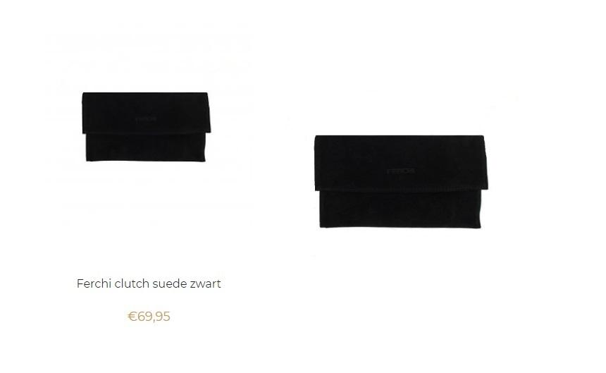 Ferchi clutch suede zwart