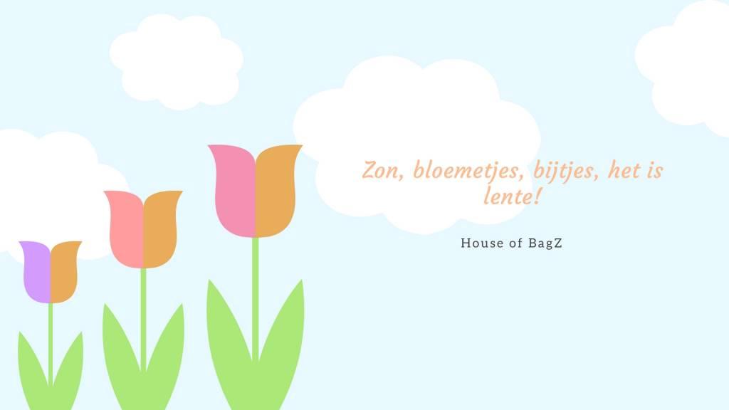 Zon, bloemetjes, bijtjes, het is lente!