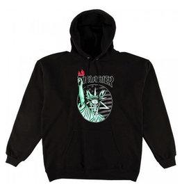 Thrasher Thrasher - Liberty Goat Hood pullover Black