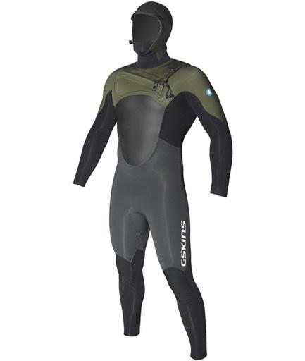C-Skins C-Skins - 6/5mm - Wired Dryknit Hooded, G/B/K, MLT (185-191cm)