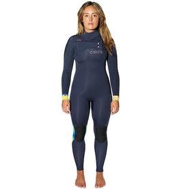 C-Skins C-Skins - 3/2mm - Ladies ReWired Front zip 3/2, Blue/Black/Tropic, US6/UK8 (163-168cm)